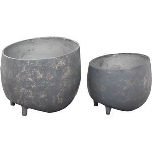 """Jardinières Declan, 12"""" x 10"""", aluminium, gris, 2 mcx"""
