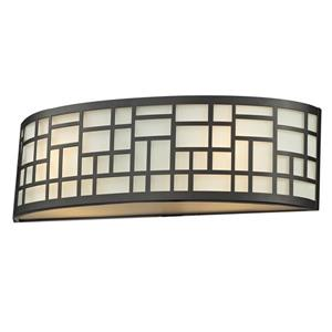 Z-Lite Elea Wall Sconce - 2-Light - Bronze/Opal Glass - 15-in