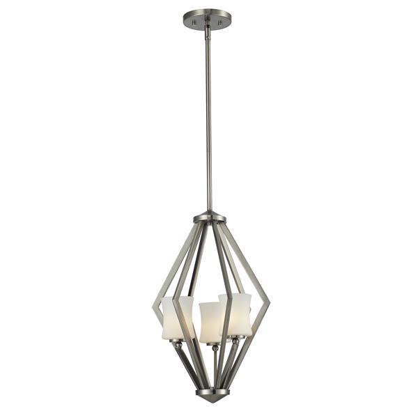 "Luminaire de vestibule Elite 3 lumières, 12""x67"", nickel"