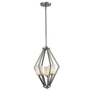 Z-Lite Elite Foyer Pendant - 3 Light -12-in x  67-in - Brushed Nickel