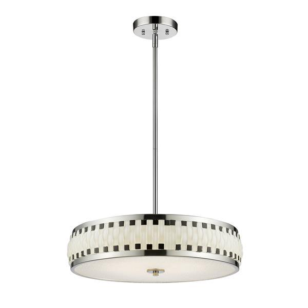 Z-Lite Sevier LED Pendant - Chrome/Black/White  - 20-in