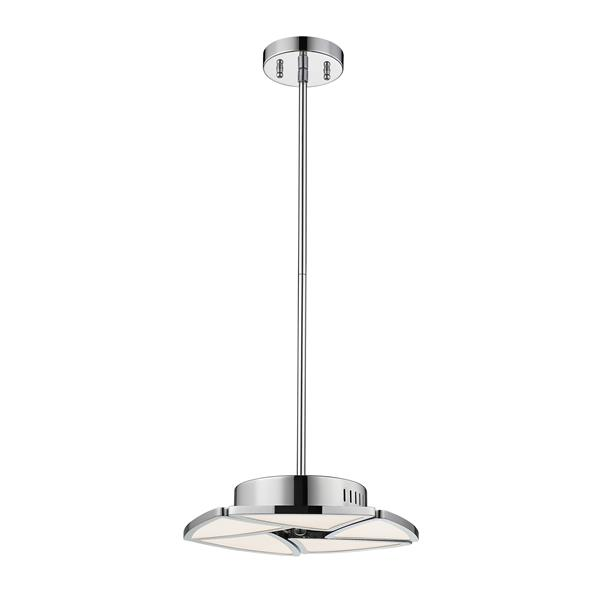 Z-Lite Aeon Pendant Light, 1-Light - Chrome/White Acrylic Shade