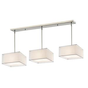 Z-Lite Sedona 9 Light Island/Billiard - White/Brushed Nickel - 57-in