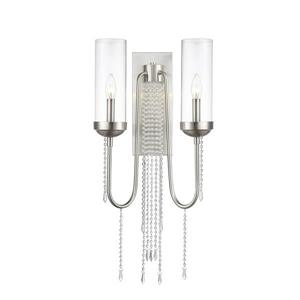 Z-Lite Siena Wall Sconce - 2 Light - Brushed Nickel