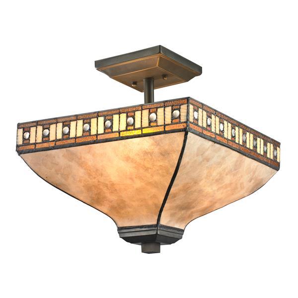 Plafonnier Crimson à 3 lumières, Java bronze