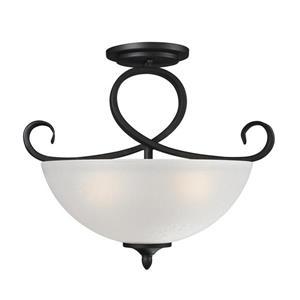 Z-Lite Arshe Semi Flush Mount - 3-Light - Café Bronze - 16-in x  13.75-in
