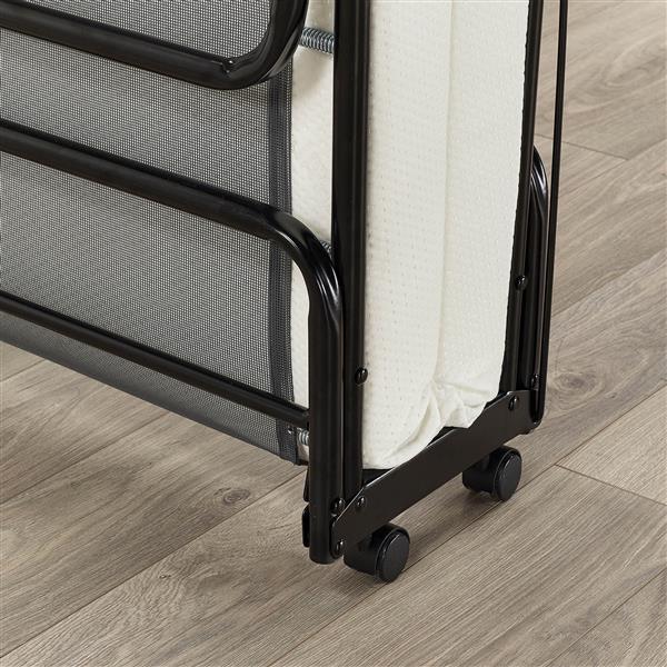 Jay-be Supreme Folding Bed with Memory Foam Mattress, Single