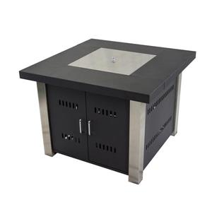 Pleasant Hearth Montréal Square Gas Fire Pit Table - 38-in - 40 000 BTU