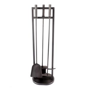Pleasant Hearth Classic 4-Piecs Fireplace Toolset - Black