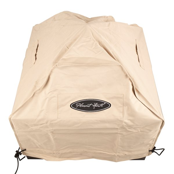 Pleasant Hearth Small Square Fire Pit Cover - Beige