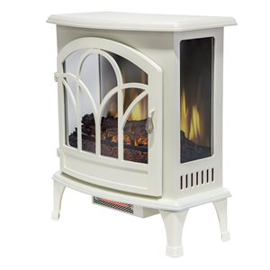 Muskoka Curved Front Panoramic IR Stove Glass Front - White