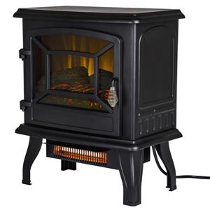 Pleasant Hearth Infrared Electric Stove - 2 Stage Heater - 17-in