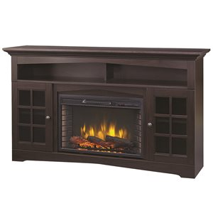 Muskoka Huntley Media Electric Fireplace - Espresso - 59""
