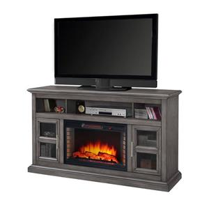 "Muskoka Newport 58"" TV Stand Electric Fireplace - Dark Grey"