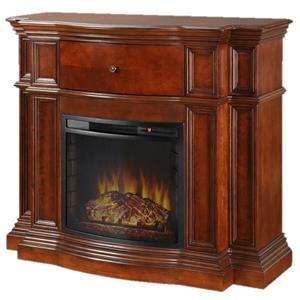 Pleasant Hearth Grayson Convertible Media Fireplace-Mahogany - 48-in