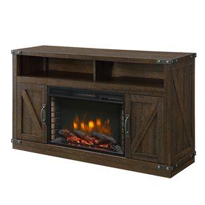 """Foyer électrique meuble télé Aberfoyle, brun rustique, 53"""""""
