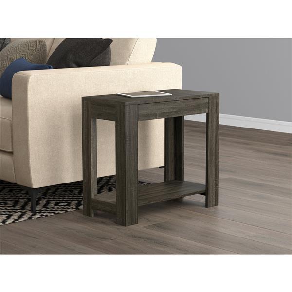 Safdie & Co. Modern Rectangular End Table - 1 Drawer - Grey