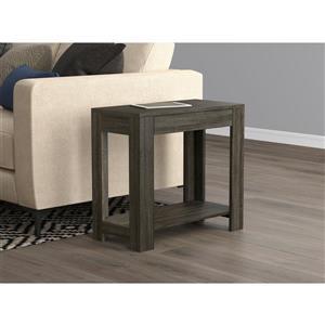 Table d'appoint rectangulaire avec 1 tiroir, gris