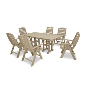 Trex Yacht Club Plastic Dining Set - 7 Pieces - Beige