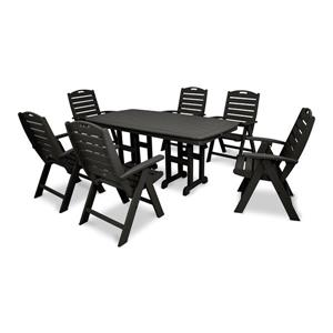 Trex Yacht Club Plastic Dining Set - 7 Pieces - Black