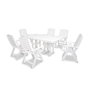 Trex Yacht Club Plastic Dining Set - 7 Pieces - White