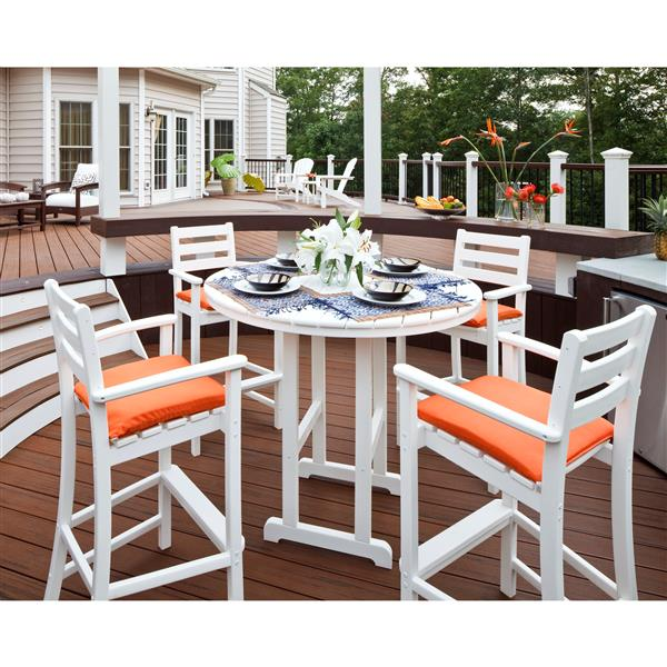 Trex Monterey Bay Outdoor Bar Set - 5-Pieces - Grey