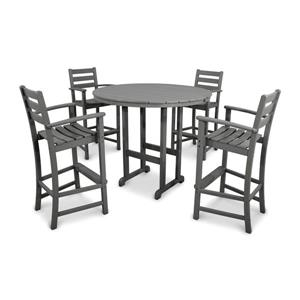 Monterey Bay Outdoor Bar Set - 5-Pieces - Grey