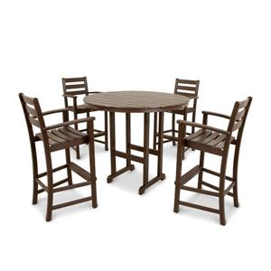 Trex Monterey Bay Outdoor Bar Set - 5-Pieces - Brown