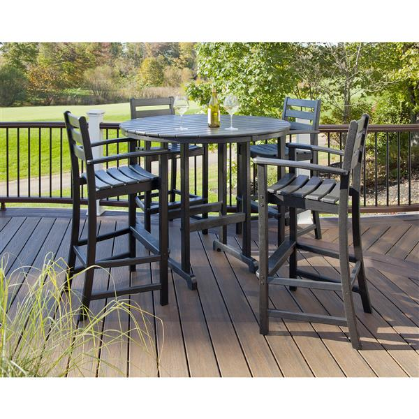 Trex Monterey Bay Outdoor Bar Set - 5-Pieces - White