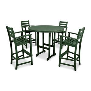 Trex Monterey Bay Outdoor Bar Set - 5-Pieces - Green