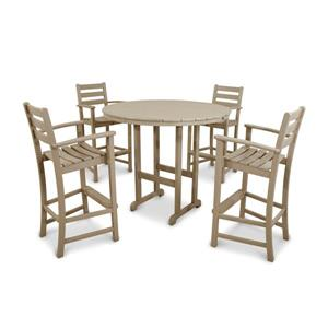 Trex Monterey Bay Outdoor Bar Set - 5-Pieces - Tan