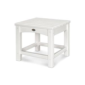 Trex Rockport Club Outdoor Side Table - 18-in - White