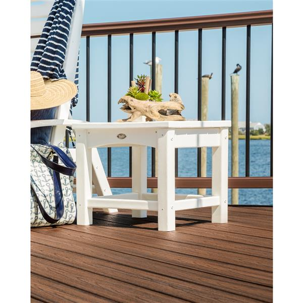 Trex Rockport Club Outdoor Side Table - 18-in - Tan