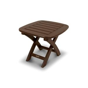 Trex Yacht Club Side Table - 21-in x 18-in - Brown