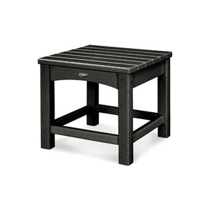 Trex Rockport Club Outdoor Side Table - 18-in - Black