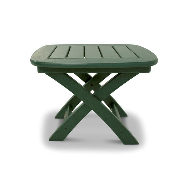 Trex Yacht Club Side Table - 21-in x 18-in - Green