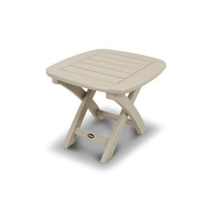 Trex Yacht Club Side Table - 21-in x 18-in - Tan