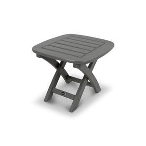 Trex Yacht Club Side Table - 21-in x 18-in- Grey