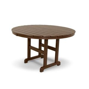 Trex Monterey Bay Round Dining Table - 48-in - Brown