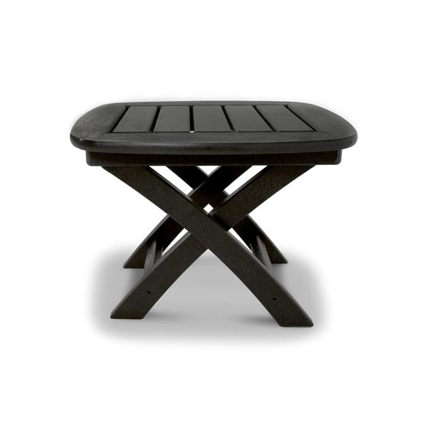 Trex Yacht Club Side Table - 21-in x 18-in - Black