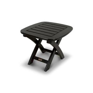 Trex Yacht Club Side Table - 21-in x 18-in - Black