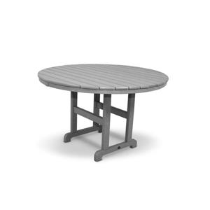 Trex Monterey Bay Round Dining Table - 48-in- Grey