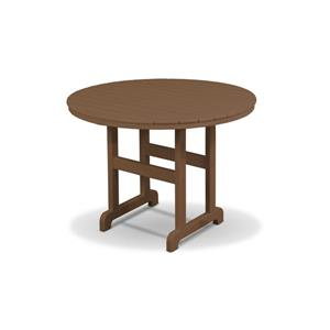 Trex Monterey Bay Round Dining Table - 48-in- Brown