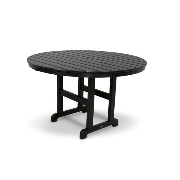 Trex Monterey Bay Round Dining Table - 48-in- Black