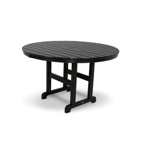 Trex Monterey Bay Round Dining Table - 48-in- Black