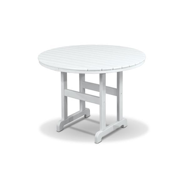 Trex Monterey Bay Round Dining Table - 48-in- White