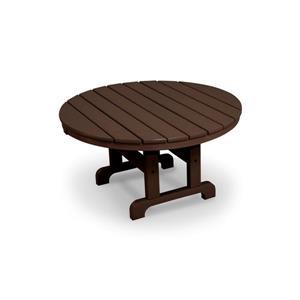 "Trex Cape Cod Round Conversation Table - 36"" - Brown"