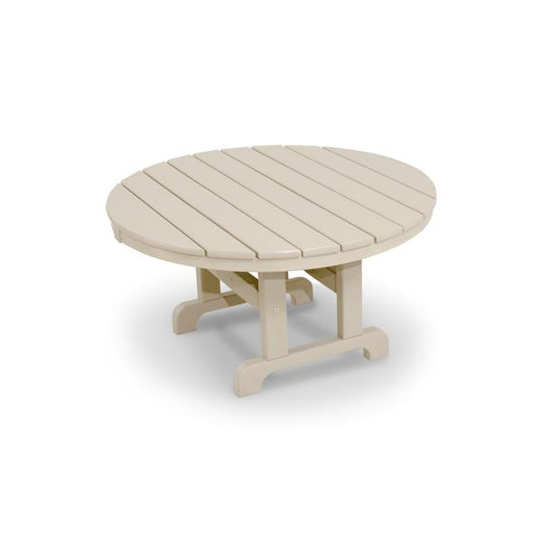 Trex Cape Cod Round Conversation Table - 36-in - Tan