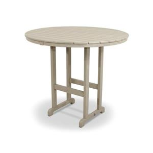 Trex Monterey Bay Round Bar Table - 48-in - Tan