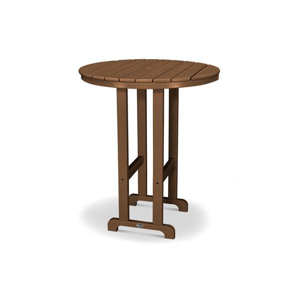 Trex Monterey Bay Round Bar Table - 48-in - Brown